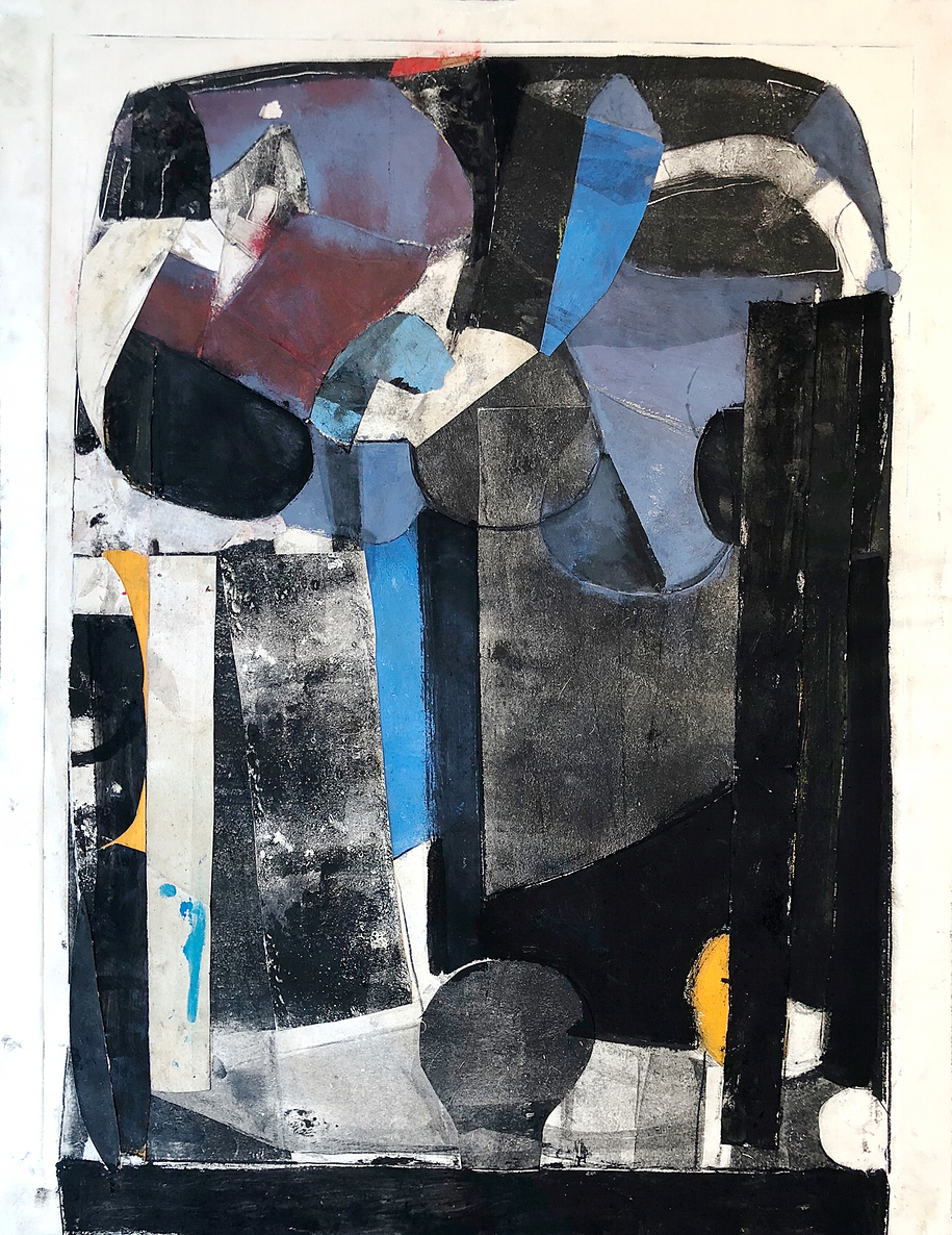 Early VOting - Monotype collagemixed media on paper20 x 262018