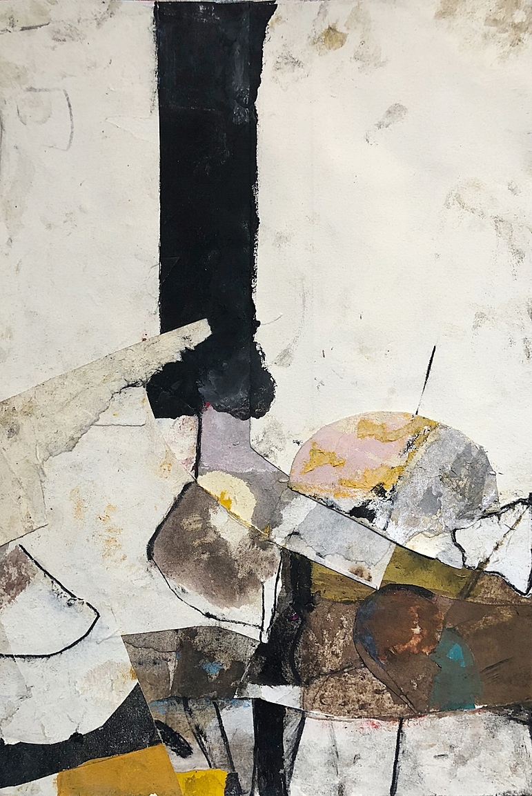 Study For Glamour Boys - Monotype collagemixed media on paper9 x 142018