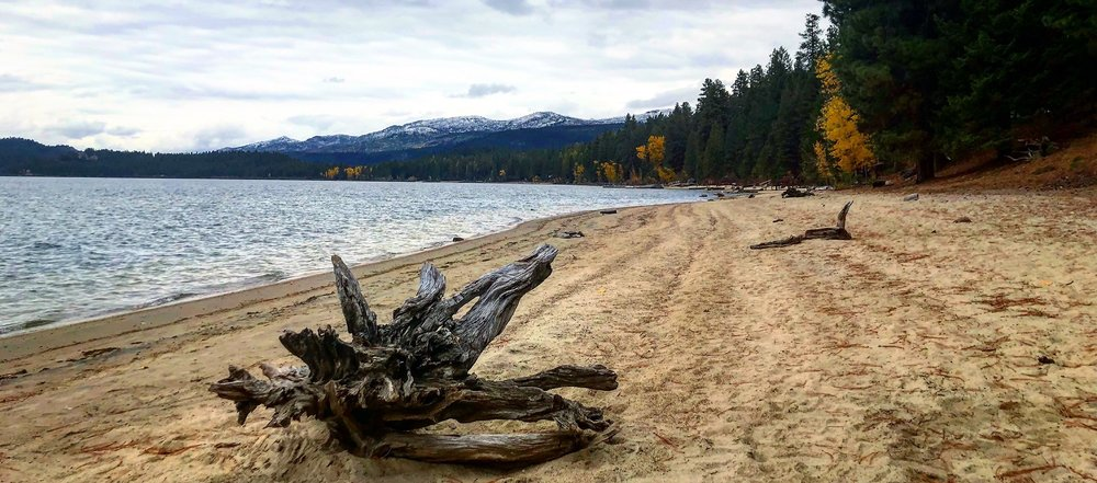 On the shores of Payette Lake in McCall, Idaho, October 2018