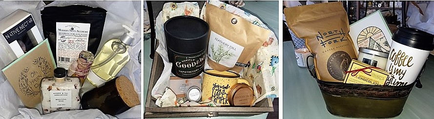 We can create all kinds of different baskets for your gift-giving needs.