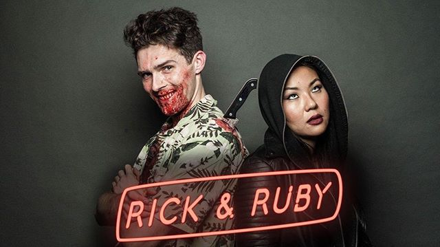 Halleloo's next big adventure!!! Get ready for a bloody (and) GREAT @rickandrubyfilm !  #horrorcomedy #bloodbath #whatsinthesuitcase #whowilldiefirst
