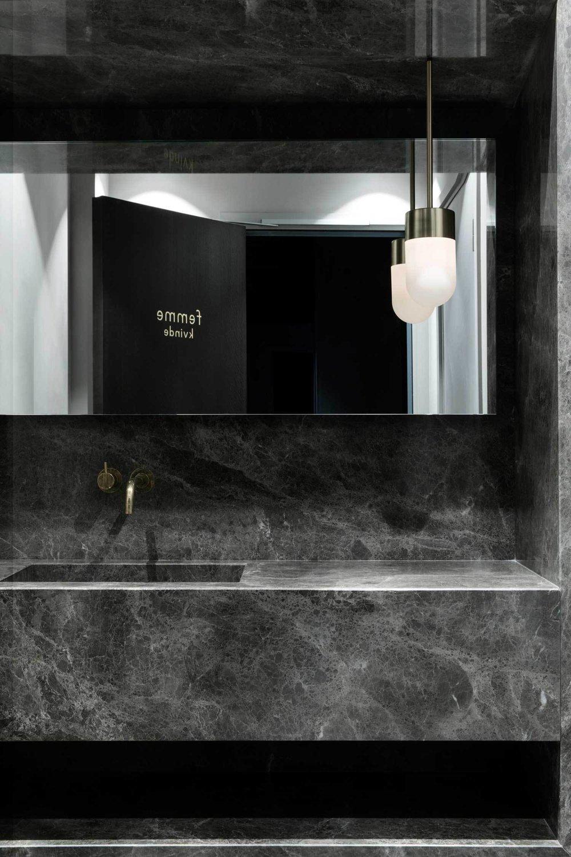 plan vasque semi massive en marbre emperador grigio Marbre Restaurant Flora Danica Omni Marbres