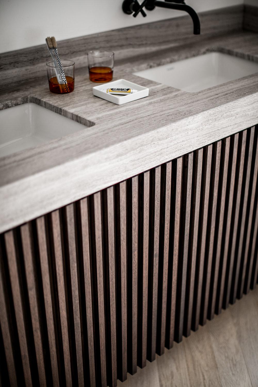 salle de bain Plan Vasque Marbre silk georgette Omni Marbres