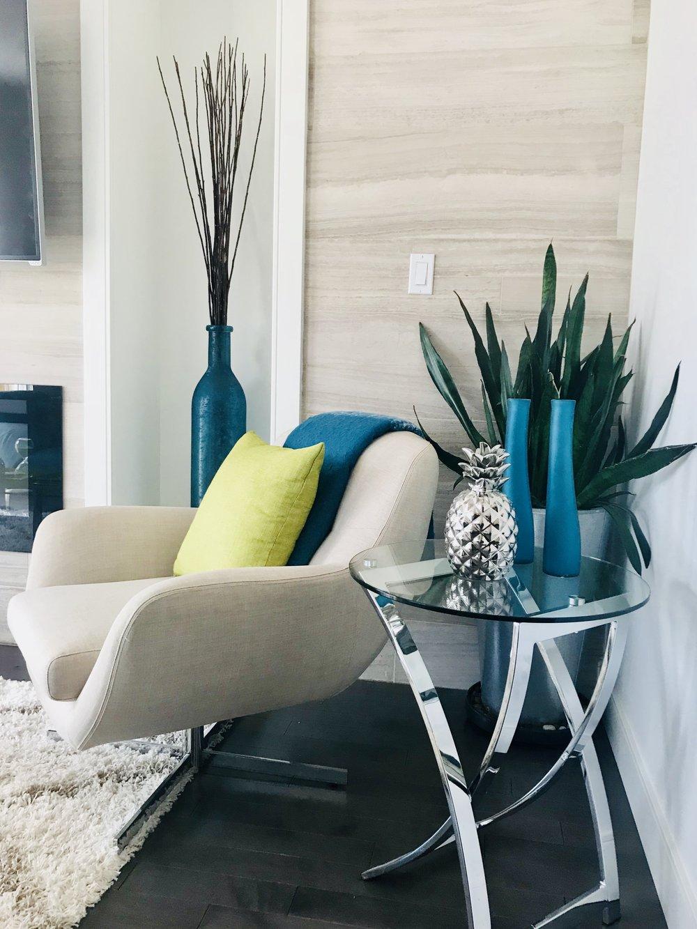Modern-Minimal-Living Room Design-Reading Nook-Cocktail Table-Style Maven Decor-Edmonton Canada