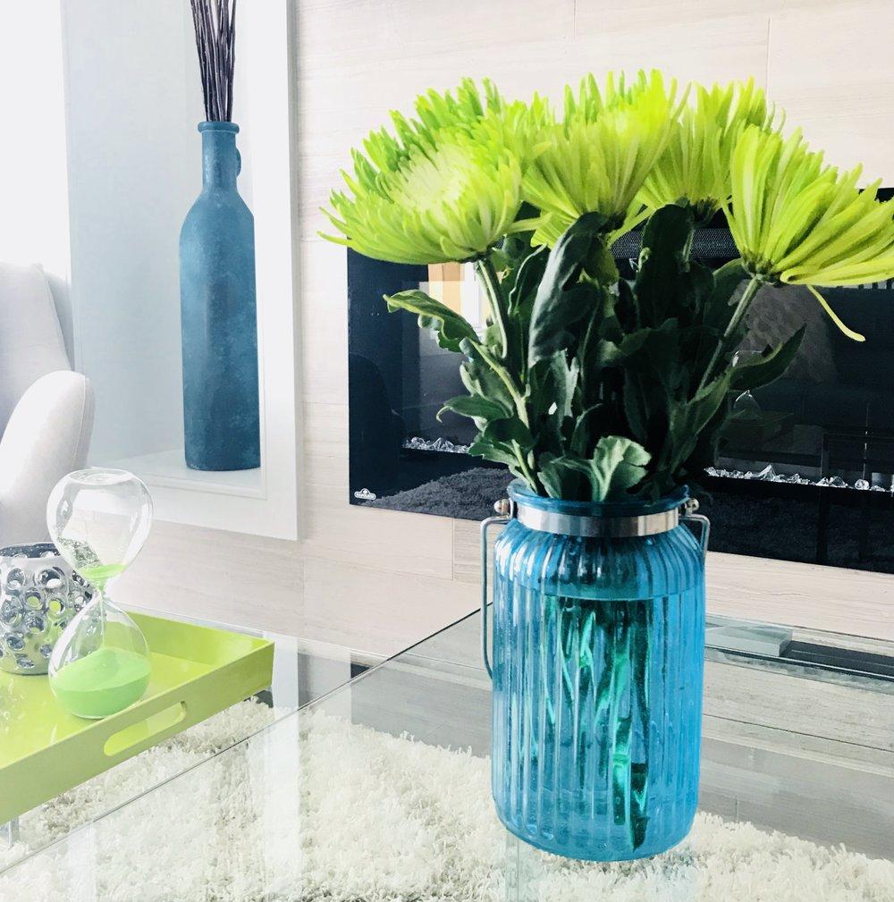 Modern-Minimal-Living Room Design-Coffee Table Styling-Coffee Table Accessories-Style Maven Decor-Edmonton Canada