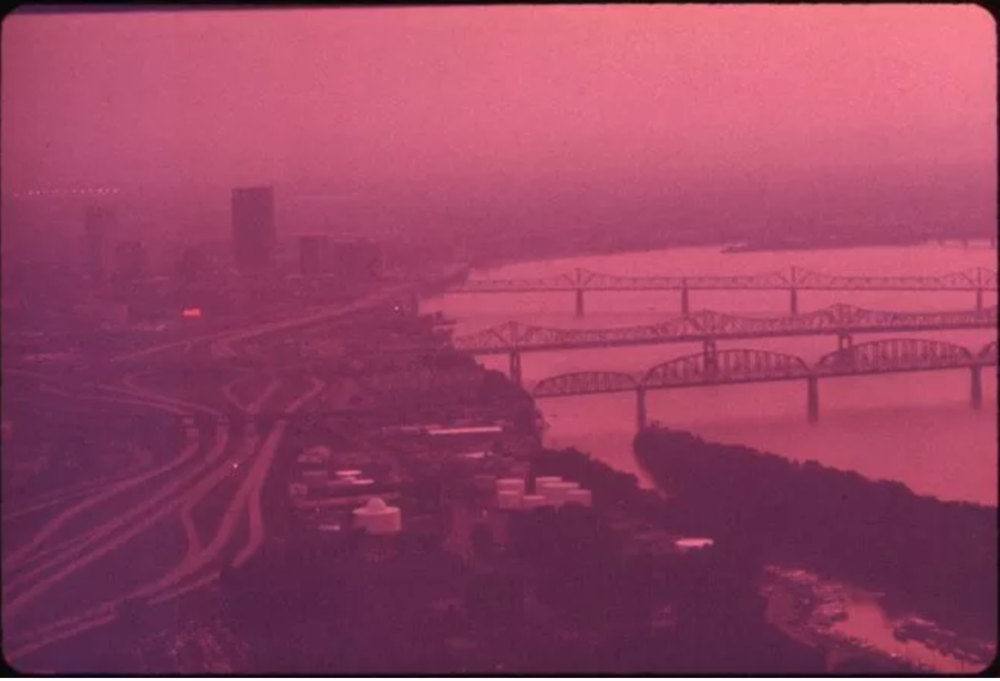 Smog Hangs Over Louisville And Ohio River, September 1972.  William Strode, EPA, National Archives .