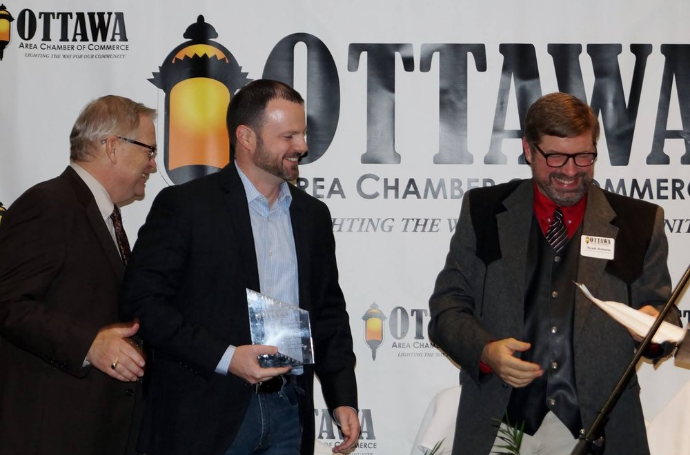 "Josh Walker named ""Entrepreneur of the Year"" by the Ottawa Area Chamber of Commerce."