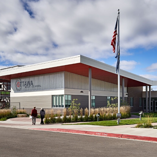 """""""Loyd's pre-construction services have allowed us to explore the design that best suits the client and stays within the budget. In fact, the new USD 290 elementary school had a few features that were tweaked at Loyd's recommendation and thus came in significantly under budget.""""    Amber Beverlin, Principal  DLR Group"""