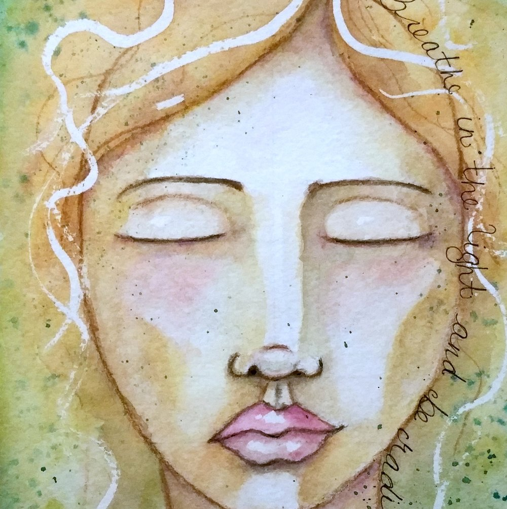 Muse Portraits - Intuitive watercolor paintings with a message from your Muse. Read More