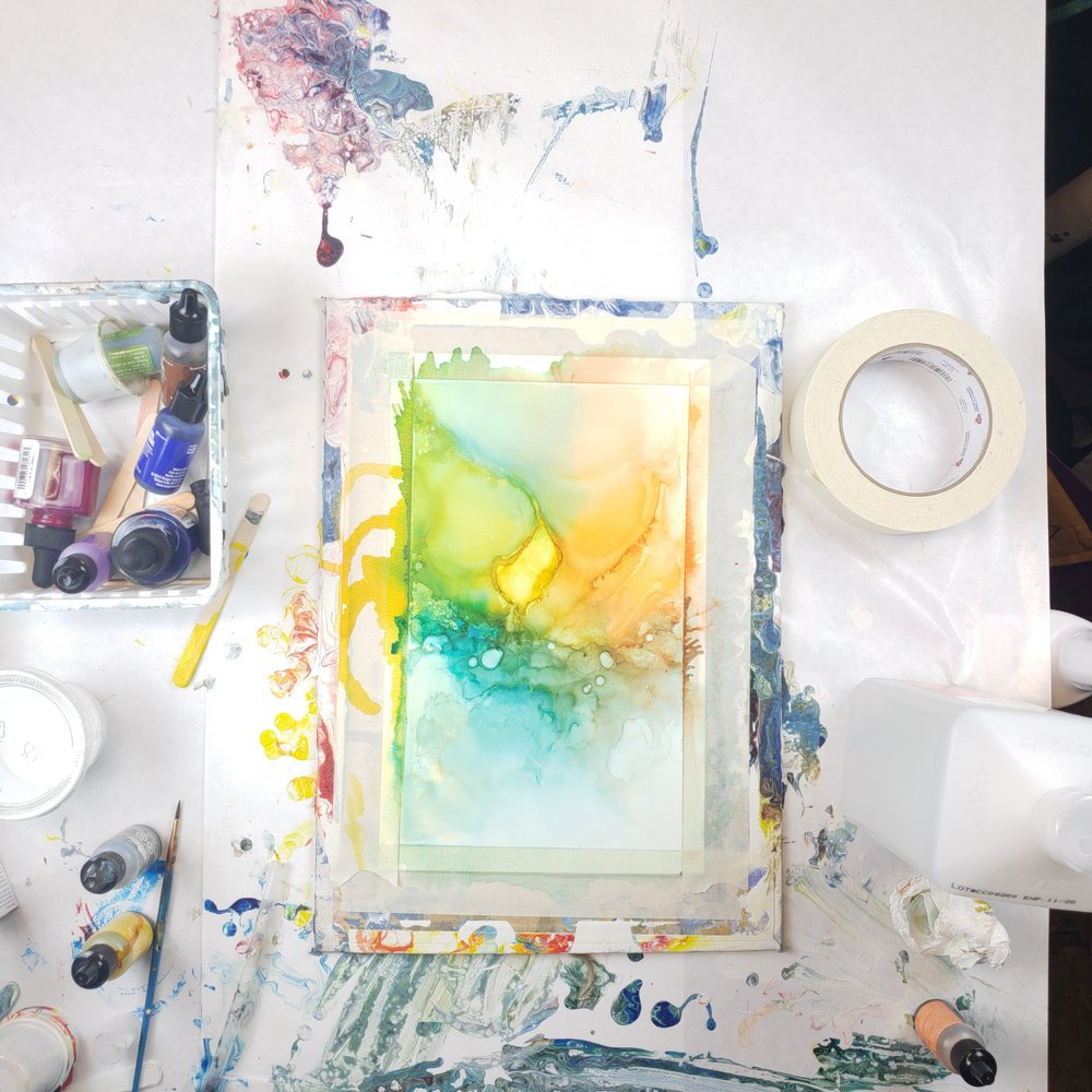 Art Parties & Demos - Host an Art Party or Demo at your home or business. Create your own alcohol ink abstract art! Contact Me