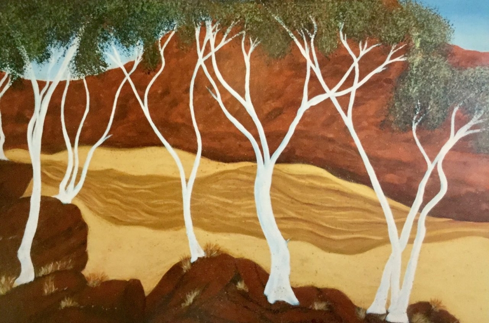 Ghost gums in Ochre