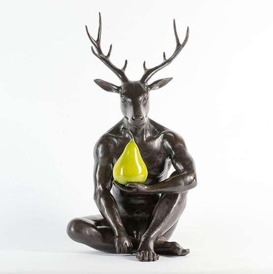 deer-with-green-pear.jpg
