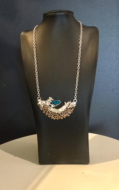 Doublet Opal Sapphire Pendant