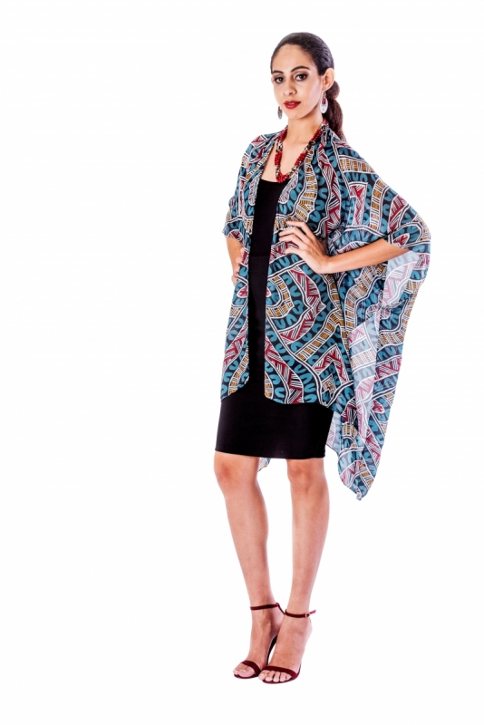 Basket Weavers Silk Chiffon Cape