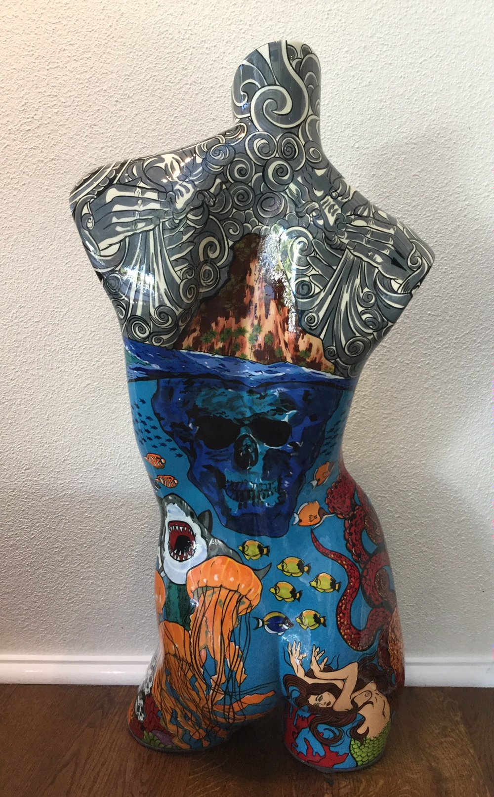 Poseidon Popart Bust back