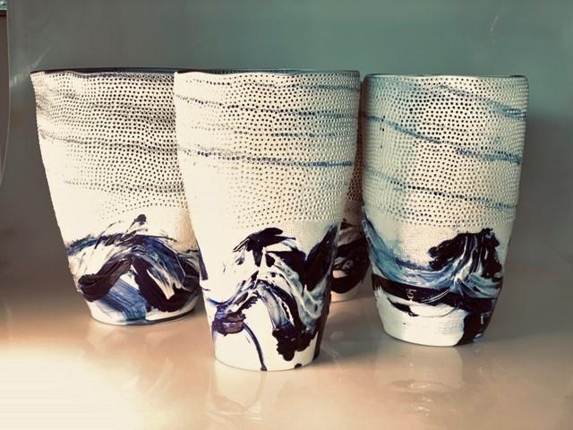 Pierced Ceramic Vases