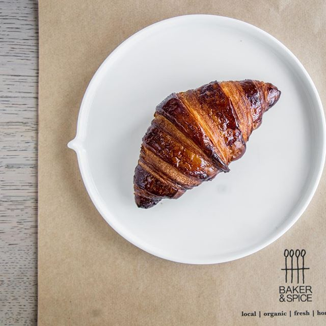 Our buttery, flakey, handmade croissants in all its glory.