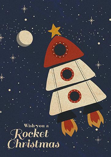 Wish you a Rocket Christmas - Características de REDBUBBLEImpresas bajo pedido. ¡Cualquier excusa es buena para regalarlas!Tarjetas de cartulina gruesa con impresión digital.El papel de la parte interior es mate para que puedas escribir mejor.Incluyen un sobre de papel kraft para que quedes genial tanto si las envías por correo como si las entregas en mano.Información sobre los tamañosTarjeta pequeñainches 4