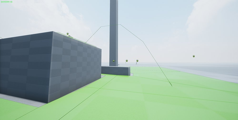 AI Mechanics - Looking into allowing AI to jump off objects or ledges as a faster way of getting to the player. - James