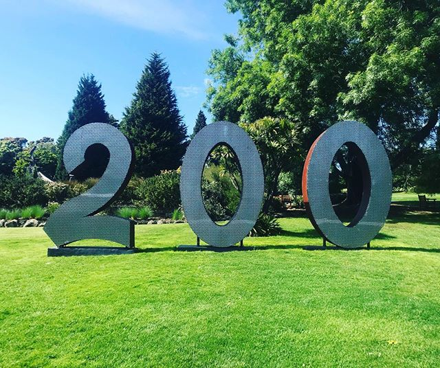 Here at the Botanical Gardens, they celebrate one number from 1-999 each day. Today was 200! #garden #gardening #royalbotanicalgardens #tasmania #hobart