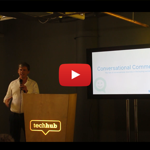 Conversational commerce - 4 case studies [video] - Charlie was asked to speak at The London Chatbots and Voice Assistants Meetup recently and talked through his experience in the role conversational channels play in the buying journey. In this talk he explores the business drivers behind 4 conversational experiences and how the chatbots or voice skills justified their investment. Watch the full recording of the talk and Q&A here.
