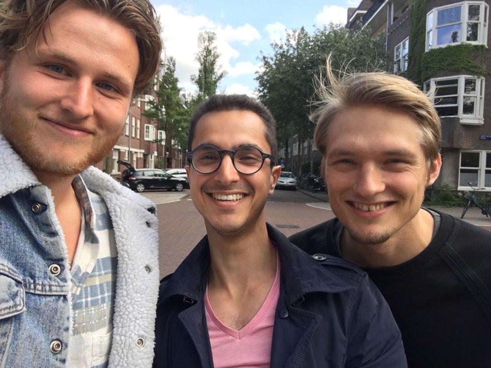 Ties (links), Erce (midden), Simon (rechts)