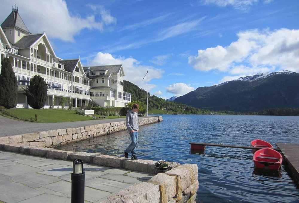Holiday in beautiful Balestrand Sognefjord Norway.