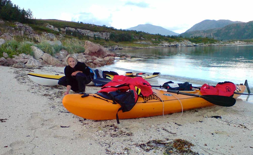 Kayak in the Arctic Circle