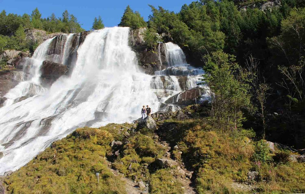 Waterfalls on a roadtrip in Hardanger Norway