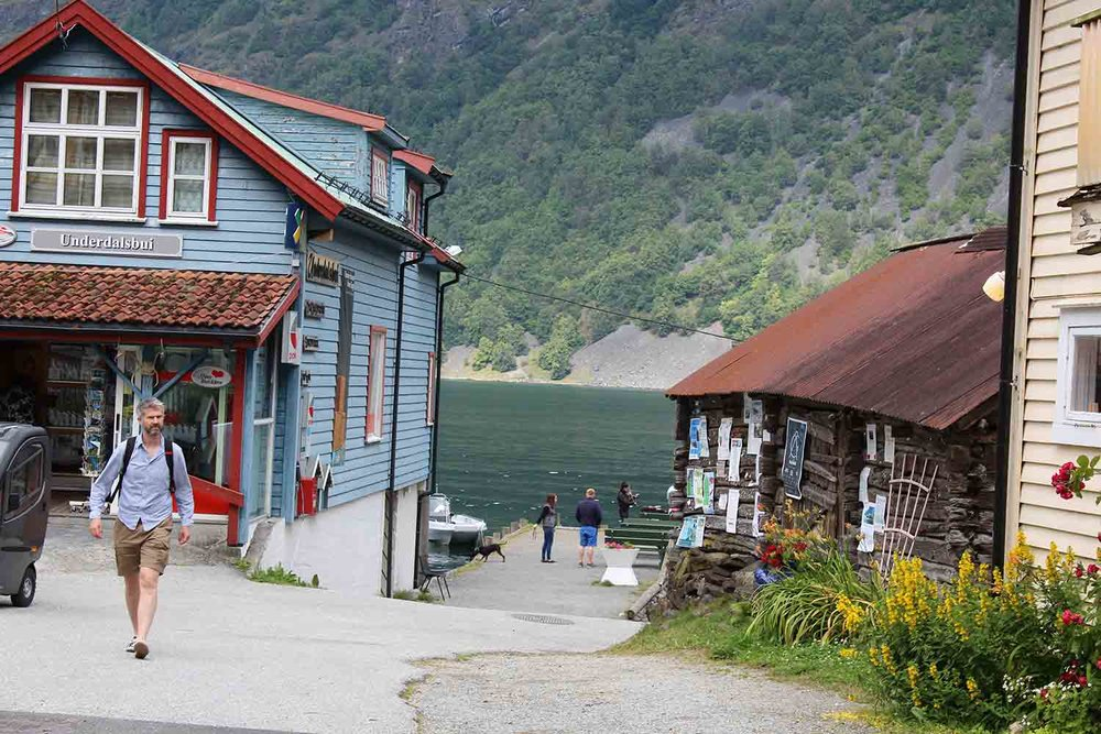 The quaint village of Undredal Naeroyfjord