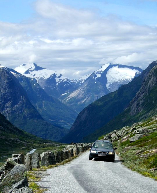 Driving holidays around Nordfjord Norway