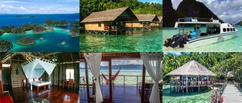 Resort at Raja Ampat with Lacadives dive travel