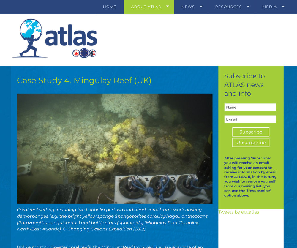 Observing oceans with ATLAS