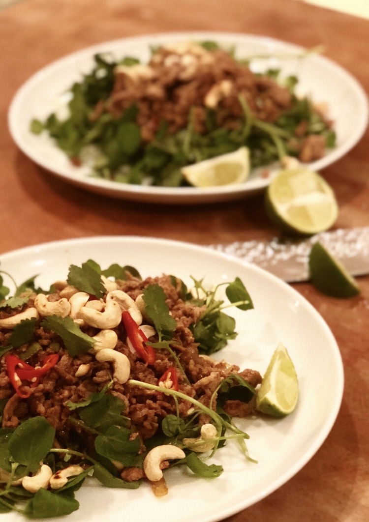 Asian turkey mince with watercress and toasted cashews.jpg