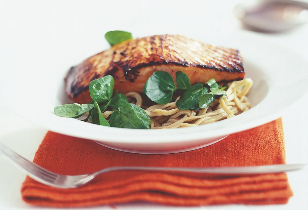 Crisped salmon with watercress & soba noodles.jpg