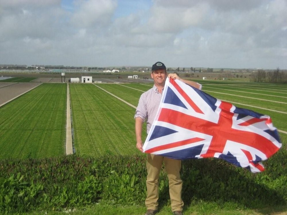 British watercress grower Damien now lives and farms in Jerez, Spain