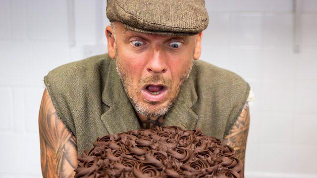 Matthew in Episode 2 of BBC's Dirty Vegan