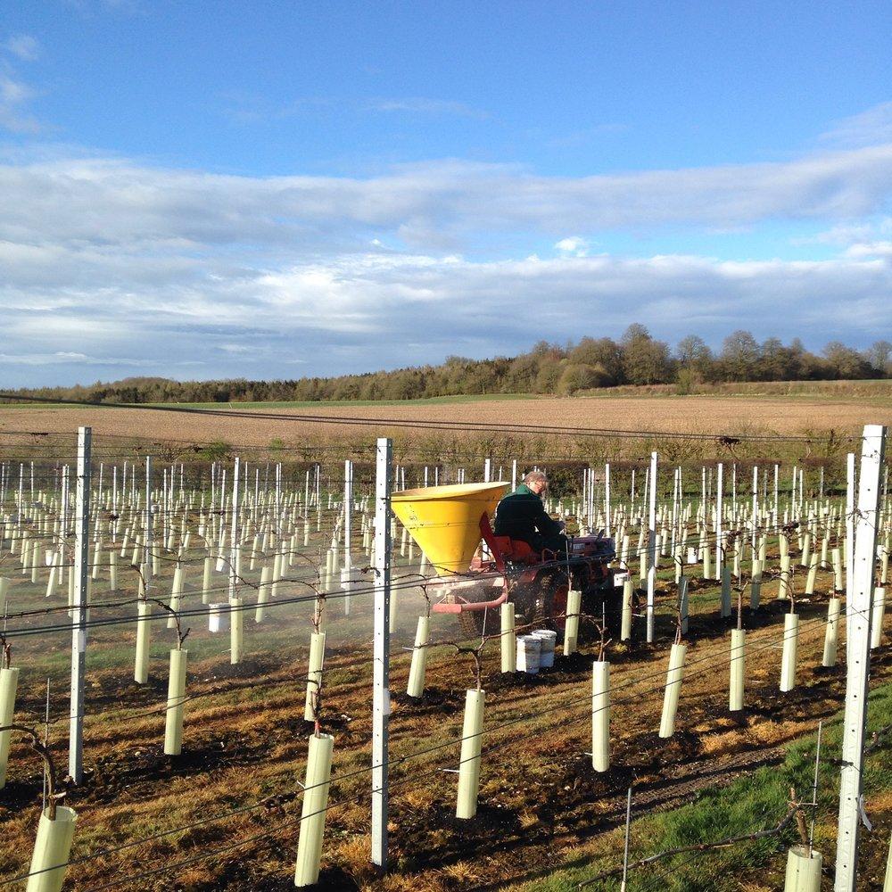 Fertiliser spreading in March