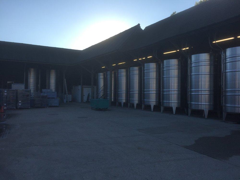 Winery tanks stand in splendour