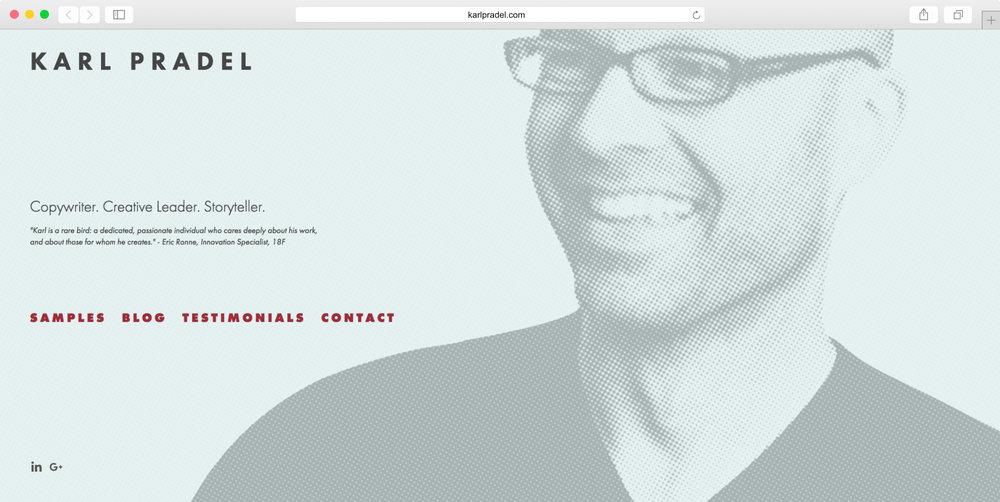 <strong>Karl Pradel</strong><p>Website Design & Graphic Design</p>