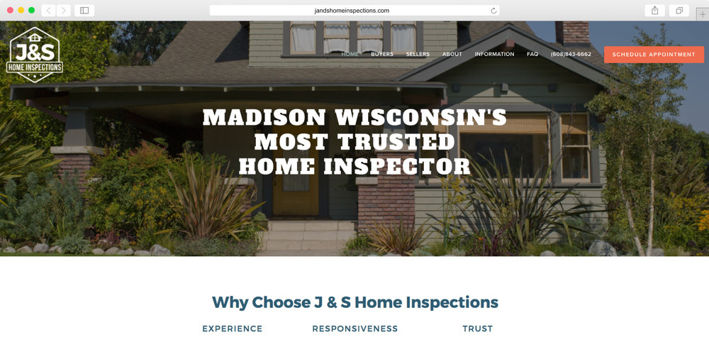 <strong>J&S Home Inspections</strong><p>Website Design, Logo Design, Photography & Copywriting</p>