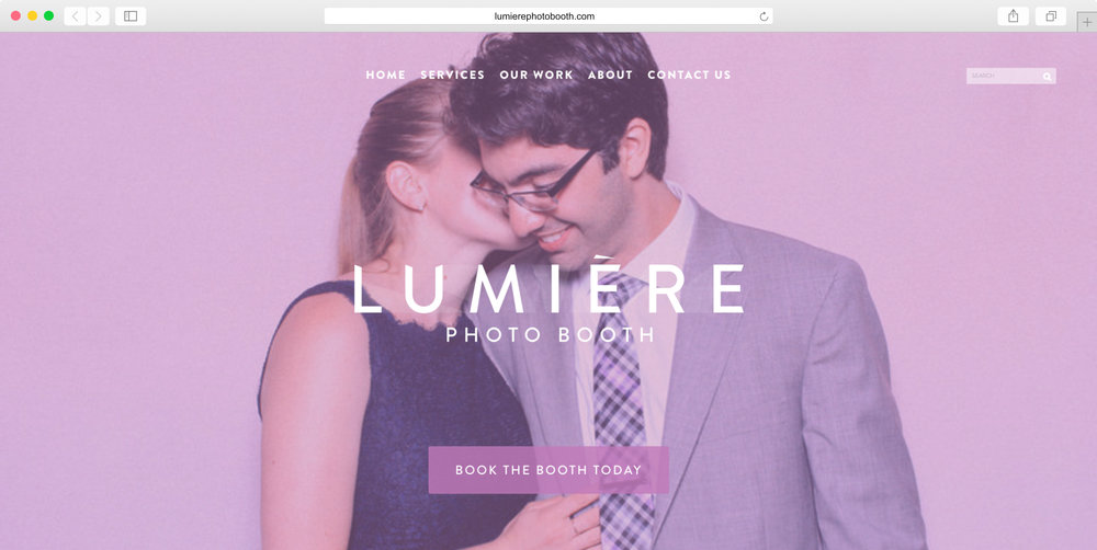 <strong>Lumiere</strong><p>Website Design, Graphic Design, Photo Editing & Copywriting</p>