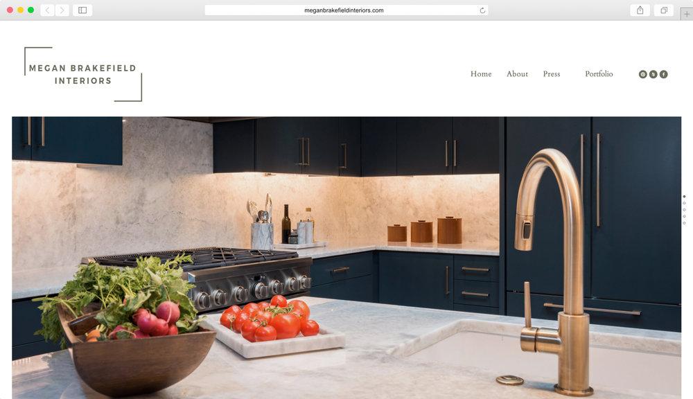 <strong>Megan Brakefield Interiors</strong><p>Website Design, Logo Design & Photo Editing</p>