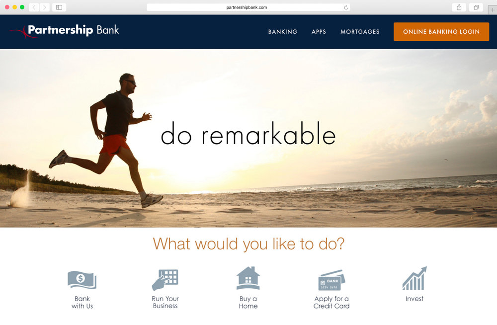 <strong>Partnership Bank</strong><p>Website Design & Photo Editing</p>