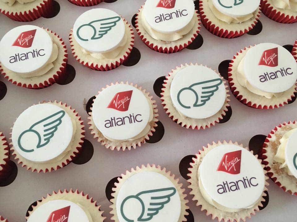 Virgin Atlantic Corporate Logo Cupcakes