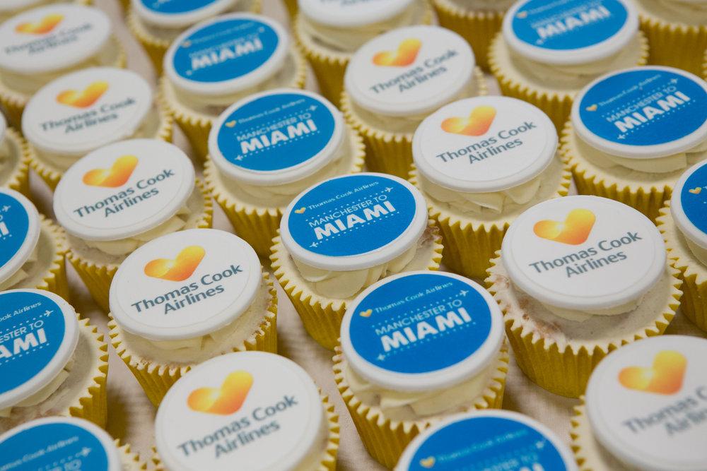 Thomas Cook Logo Cupcakes