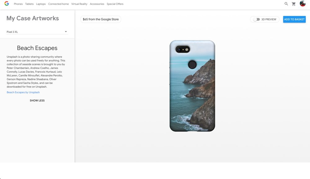 Photograph of Grey Whale Cove in Pacifica, CA on the the Live Cases for Pixel phones by Google.