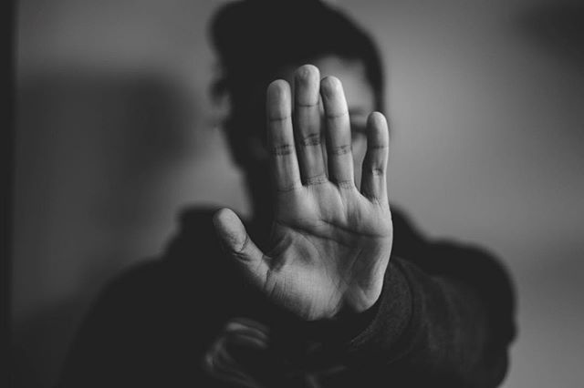 """I call this piece """"Every response I've received while job hunting"""" . . . #hand #girl #person #portrait #selfportrait #blackandwhite #bw #photography #canon #lightroom #adobe #photoshop #woman #fingers #art #minimal #abstract #stop #camera #50mm #24mm #blackandwhitephotography"""