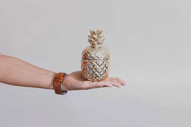 Can you tell I'm running out of things to take pictures of?🍍 . . . #pineapple #minimal #minimalism #fruit #gold #candle #aesthetic #wallpaper #white #hand #applewatch #apple #applewatchseries4 #leather #hand #photography #canon #24mmpancake #lightroom #adobe #photoshop #self #selfportrait #nikon #unsplash