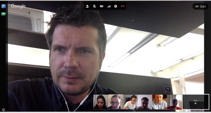 The team on the 10am morning hangout!